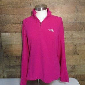 The North Face Pink Fleece Quarter Zip Pullover M